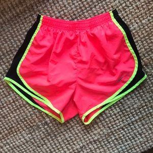 Neon Nike drifit shorts